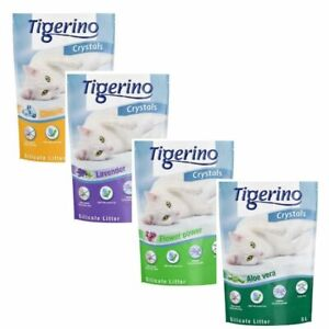 Tigerino Crystals Cat Litter Mixed Trial Pack 6X5L Classic Lavender Flower Aloe