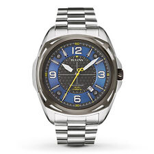 Bulova Men's 98B224 Precisionist Black and Blue Dial Bracelet 48mm Watch
