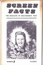 SCREEN FACTS #5 - 1963 film fanzine - Cornell Woolrich, Roy Rogers, Gene Autry
