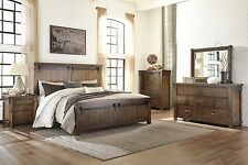 Ashley Lakeleigh Queen 6 Piece Faux Barn w/ Door Panels Furniture Set B718