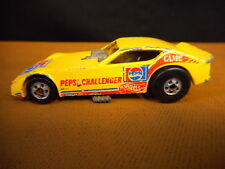 Funny Car 1977 Hot Wheels Pepsi Challenger Yellow Vintage Toy Used