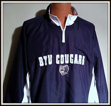BYU COUGARS CADRE EMBROIDERED 1/4 ZIP PULLOVER SPRING JACKET ADULT XLARGE