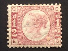 GB Queen Victoria Line Engraved ½d Bantam SG 49 Plate 5. (cat. £110)