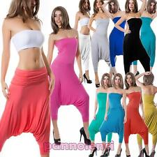 Overall pantaloni donna tuta bustino pinocchietto turca harem jumpsuit CC-157