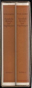 Voltaire: Sämtliche Romane und Erzählungen in 2 Bänden   1982
