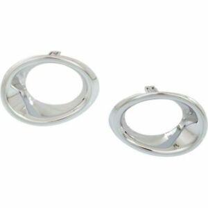 FOR LX GS350 / GS450H W/O F, 2013 2014 2015 FOG LAMP BEZEL CHROME RIGHT & LEFT