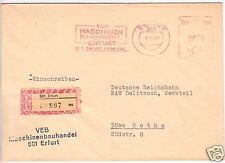 AFS, VEB mécanique commerce Erfurt, R-lettre, O Erfurt, 501, 8.10.81
