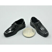 """1:6 Black Dress Shoes Accessories for 12"""" Male Action Figure BBI Dragon DID"""