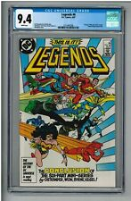 LEGENDS #6 CGC 9.4 NM+ & WHITE PAGES! 1987 1ST NEW JUSTICE LEAGUE JOHN BYRNE Art