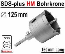 SDS-plus HM Bohrkrone �˜ 125mm x 160mm Dosenbohrer Kernbohrer Hartmetall Lochsäge