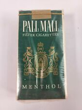 Collectible VINTAGE Package Cigarette Cigarettes Display Pall Mall Menthol RARE