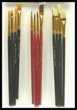10 Cepillos de pintura de artistas, cerda, pelo natural, aceite sintético para Acrílico Fina