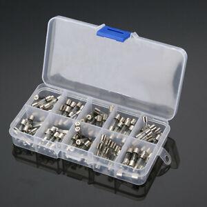 100 Stück Feinsicherung Glassicherung Glasrohr Sicherung Set 10 Modell  5x20mm