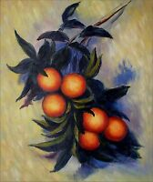 Hand Painted Oil Painting Repro Claude Monet Orange Branch 20x24in