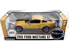 Greenlight 2010 Ford Mustang GT Yellow / Black 1/18 Diecast car 12870