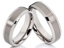 2 Fedi Nuziali matrimoniali Anello di fidanzamento in titanio & incisione gratis