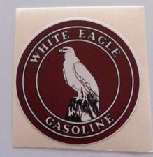Vintage White Eagle Gasoline Sticker 3 inch
