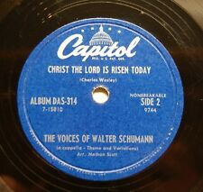 1952 VOICES OF WALTER SCHUMANN Christ The Lord Is Risen Today/The Palms, Capitol