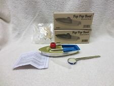 2 POP POP BOATS HISTORICAL STEAM MODELS RUN ON WATER HEATED BY WAX