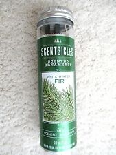 NEW Christmas Time White Winter FIR Tree Scentsicles Scented Ornament Sticks 6