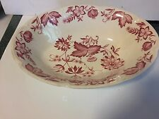 Johnson Bros. Windsor Ware Malvern Pink/Red Onion Vegetable Serving Bowl