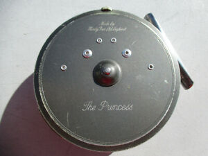 """Hardy Brothers Ltd. Fly Fishing Reel & Pouch""  The Princess / Very Nice"