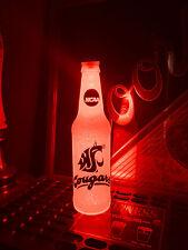 NCAA Washington State Cougars WSU Football 12oz Beer Bottle Light LED March Mad