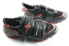 Specialized Comp Road Bike Shoes Mens Sz 10.5 Black Red 2 Bolt New FIT SMALL