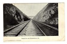 Pa - Elizabethtown Pennsylvania 1908 Postcard Tunnel Cut Railroad Train Tracks
