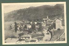 Lombardia. SULZANO, Lago Iseo, Brescia. Cartolina d'epoca viaggiata nel 1949.