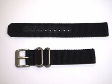 Seiko 4K13JZ Black Nylon Strap Band Watch Model SNK809 18mm