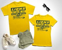 Cliff Booth Lions Drag Strip T-Shirt Once upon a time in Hollywood Lion Harbor