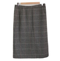 St Michael Marks and Spencer Vintage Wool Skirt Size 14 Pencil Check