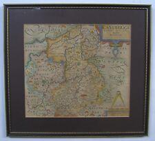 Cambridgeshire: antique map by Saxton & Kip, 1610