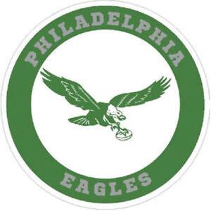 Philadelphia Eagles Round Retro Logo Available Multiple Sizes Sticker Decal