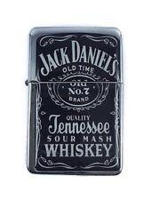 Lighter Jack Daniels Design Silver Refillable Windproof Oil Petrol Star Flip Top