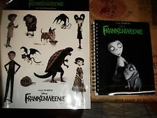 LOT DISNEY CALEPIN + STICKERS FRANKENWEENIE NEUF EMBALLE TIM BURTON