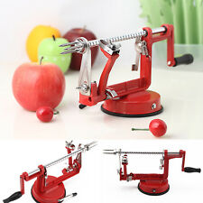 3 in 1 Red Kitchen Tool Apple Peeler Slinky Machine Fruit Cutter Slicer Corer AU