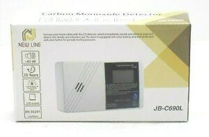 NEWLINE JB-C690L DIGITAL LCD CARBON MONOXIDE ALARM DETECTOR 10 YEAR LIFE HOME