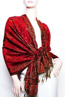 Jacquard Paisley Pashmina Shawl / Wrap / scarves 24 colors us wholesaler