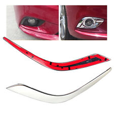 Chrome Front Fog Lights Lamp Eyebrow Cover Trim Fit for Mazda 6 Atenza 2013-2016