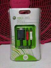 Microsoft Xbox 360 VGA AV CABLE Brand New Factory Sealed