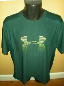 Under Armour UA Heat Gear Fitted T-Shirt Green Men's Size LG Large