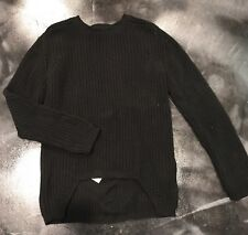 RICK OWENS CABLE KNIT SWEATER - LARGE - BLACK - NWOT