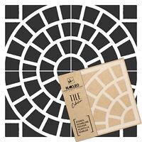 MAURE Pochoir en PLASTIQUE réutilisable pour tuiles // Géométrique Marocain
