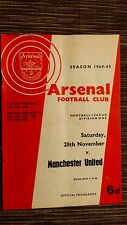 1964/65 FOOTBALL LEAGUE: ARSENAL v MANCHESTER UNITED - 28th NOVEMBER