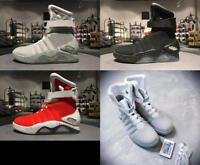Air Mag Back To The Future Mens Marty McFly Fashion Sneakers LED Shoe ankle boot