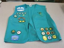 Girl  Scout VEST WITH PATCHES. SUFFOLK COUNTY