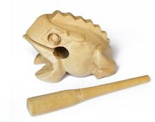 NEW Handcrafted small Wooden Croaking Frog, kids sound maker Chile