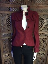 Topshop Victoriana Fitted Peplum Jacket, Size 8